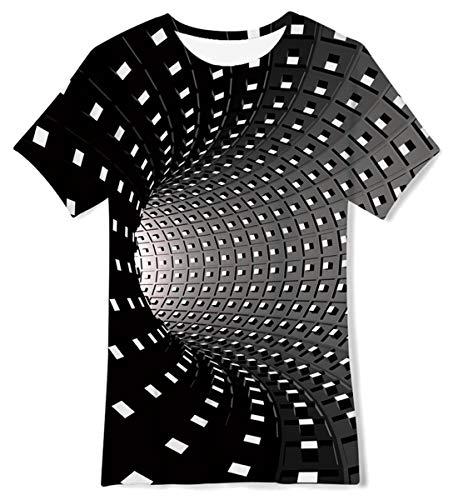 Fanient Funny Swirl Grafik 3D-Druck Kinder Jungen/Mädchen T-Shirt Kurzarm T-Shirt Top