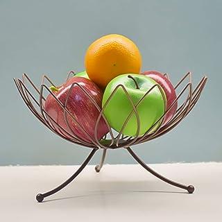 Fruit Basket - Fruit Basket Countertop - Fruit bol décoratif Centerpiece Display Stand AOIWE (Color : Brown)