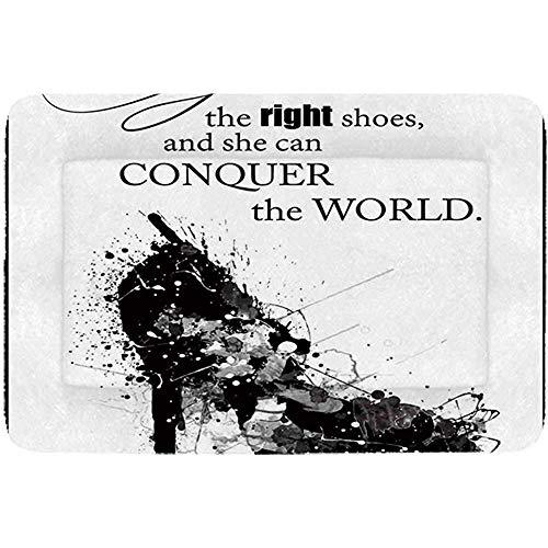YAGEAD Quote Semplice Cuccia per Animali Domestici, regala a Una Ragazza Le Scarpe giuste e può conquistare Il Mondo della Donna Stampa Artistica