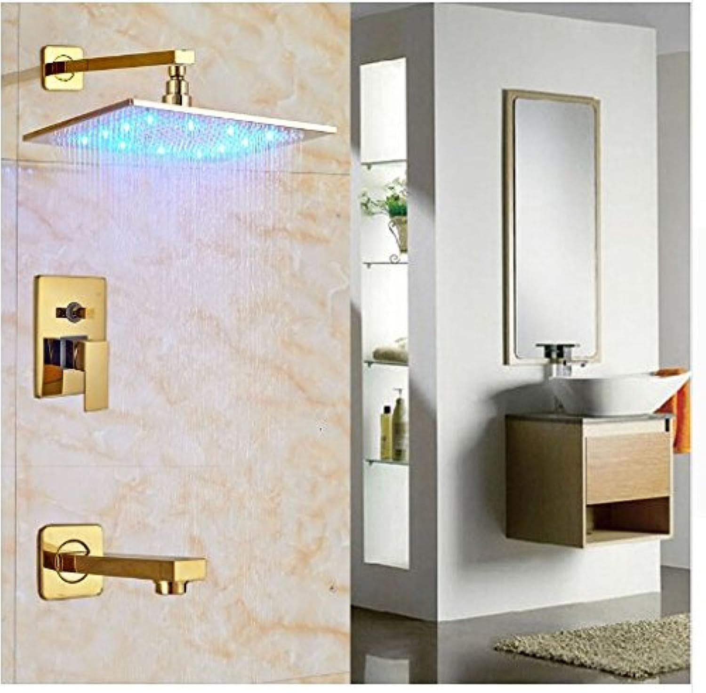 Gowe ausgesetzt 3Farbwechsel Badewanne 30,5cm Dusche Wasserhahn mit Badewanne Auslauf Einhebelmischer Dusche