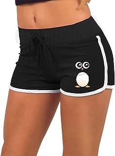 Youbah-01 Cute Penguin Womens Hipster Hot Pains,Summer-time Slim Yoga Render Pants