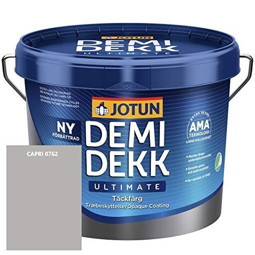JOTUN DEMIDEKK ULTIMATE Täckfärg Holz-Farbe | Wetterschutz-Farbe | Holzschutz-Farbe | Absolute Premium-Qualität |10 Liter CAPRI 0762