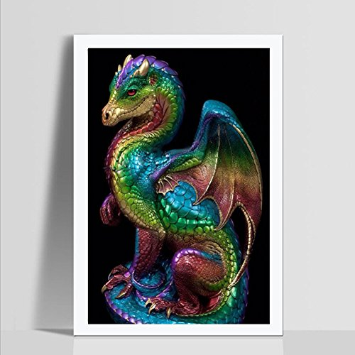 Vovotrade® 5D Dragon Broderie Peintures Strass Collé DIY Diamant Peinture Dragon Embroidery Paintings Rhinestone Pasted Diamond Painting (multicolor)