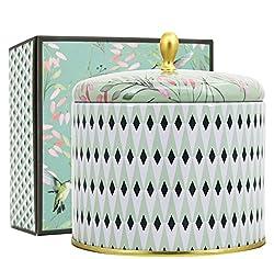 La Jolíe Muse Duftkerze Groß Sojawachs Kerze Weißer Tee Geschenkkerze in Dose 2 Dochte 80Std 400g Duftkerze zum Muttertag