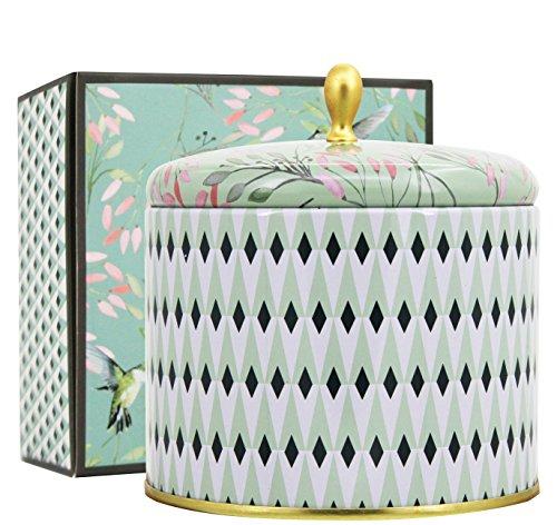 La Jolíe Muse Duftkerze Groß Sojawachs Kerze Weißer Tee, Geschenkkerze, Geschenk zum Muttertag, in Dose, 2 Dochte 40-50 Stunden, 400g Duftkerze