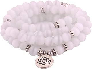 white buddhist bracelet