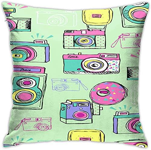 BONRI Throw Pillow Case, Funda de Almohada para cámara, Funda de Almohada Decorativa Cojín Cuadrado para sofá Sofá Coche 18x18-Camera5