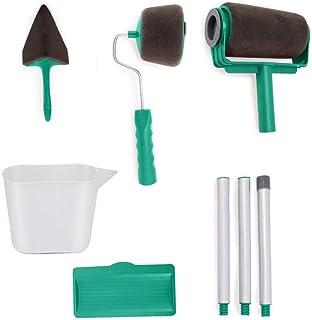 Hengwei Paint Roller Kit 9Pcs Upgrades Seamless Brush Kit Multifunctional Paint Runner Tool Set Decorating Tools House Off...