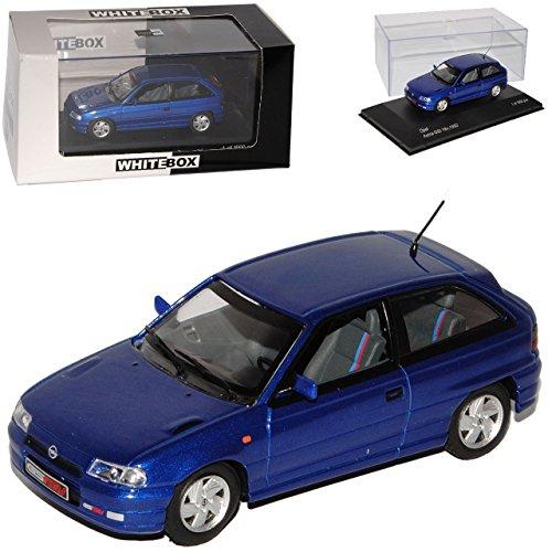 Whitebox Opel Astra F GSI 16V 3 Türer Blau 1991-2000 1/43 Modell Auto