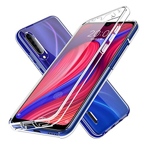 LXHGrowH Funda para Samsung Galaxy A9 2018 - Carcasa Completa Anti-Shock [360°] Full Body Protección [Silicona TPU Frente] y [Duro PC Back] para Samsung Galaxy A9 2018 - Cover Doble [Transparente]