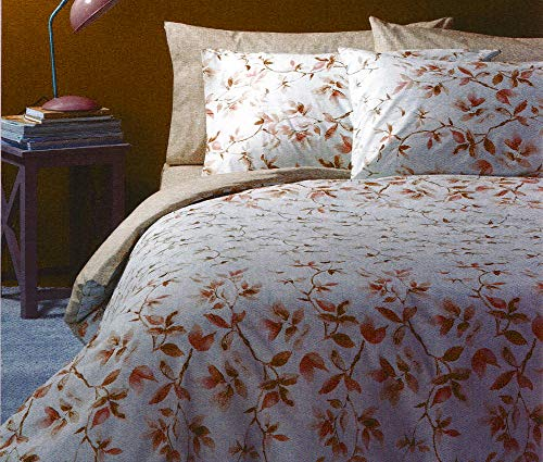 Zucchi Completo Copripiumino Matrimoniale 250x200+40 Art. Lea Doubleface con 4 federe + tavoletta Profumo Biancheria per armadi by biancocasa