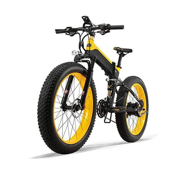 51b9pcPmO0L. SS600  - Dušial Elektro Fahrrad 500 Watt 48 V e-Bike Pedelec Faltbares Elektrofahrrad Elektrisches Fahrrad Damen Herren Mountain E-Bike für Erwachsene