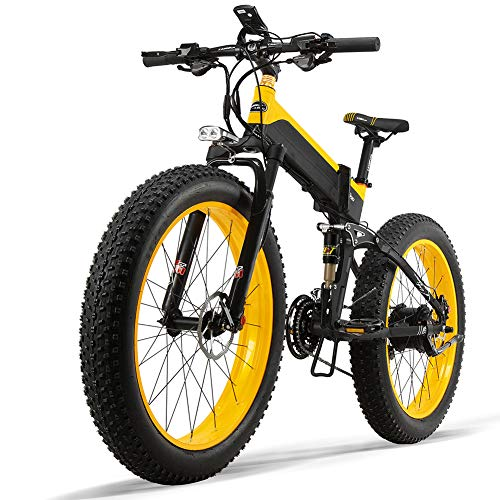 Gebuter Electric Bike Folding Electric Bike for Adults, Commute Ebike with 500W Motor City Bicycle MAX Speed 30 km/h Electric Mountain Bike