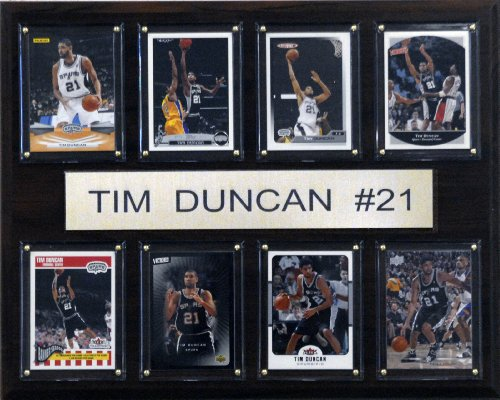 C&I Collectables NBA Tim Duncan San Antonio Spurs 8 Card Plaque