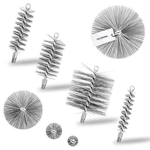 HOLZBRINK Heizkesselbürste Ofenrohrbürste Kesselbürste zur Heizkesselreinigung M12, Besengröße 130 mm, 1 Stück