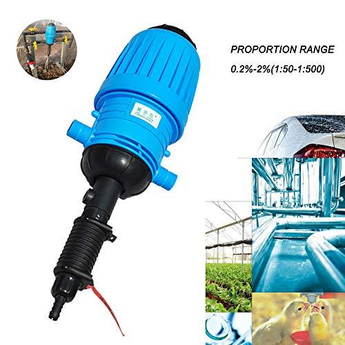 WOFEI 0,2%-2% Wasserbetriebene Dosierpumpe Chemischer Dünger Injector Spender proportioner für Gartenbewässerung, Tierhaltung, Autowäsche, öffentliche Desinfektion