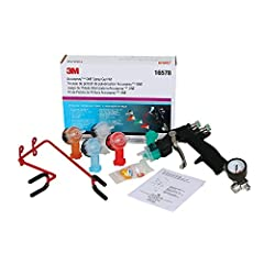 "Durable, lightweight 1-piece composite spray gun body eliminates maintenance kits Complete selection of replaceable atomizing heads allows for a range of applications and fluid viscosities Air control valve helps regulate up to 12"" vertical or horizo..."