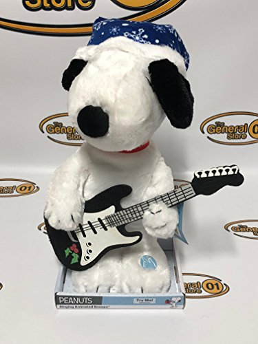 Peanuts Singing Animated Snoopy Large 15' Christmas Plush Toy Musical Music Box Collectible Plays 'Linus & Lucy'