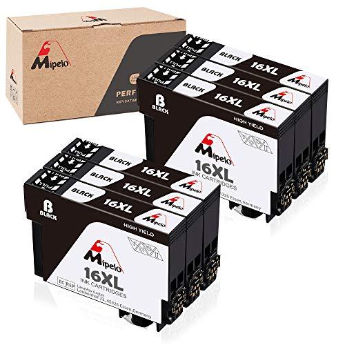 Mipelo (6 Nero) Compatible Epson 16XL 16 Cartucce d'inchiostro, 6 Pack per Stampante Epson Workforce WF-2510 WF-2630 WF-2750 WF-2760 WF-2010 WF-2530 WF-2660 WF-2520 WF-2650 WF-2540