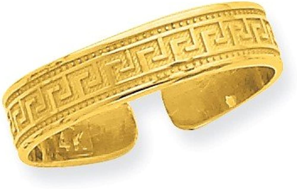 CoutureJewelers 14k Greek Key Toe Ring