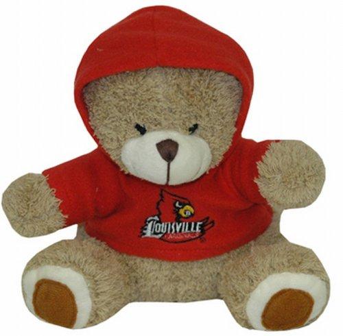 NCAA Louisville Cardinals Plush Bear with Logo Hoodie, Team Color