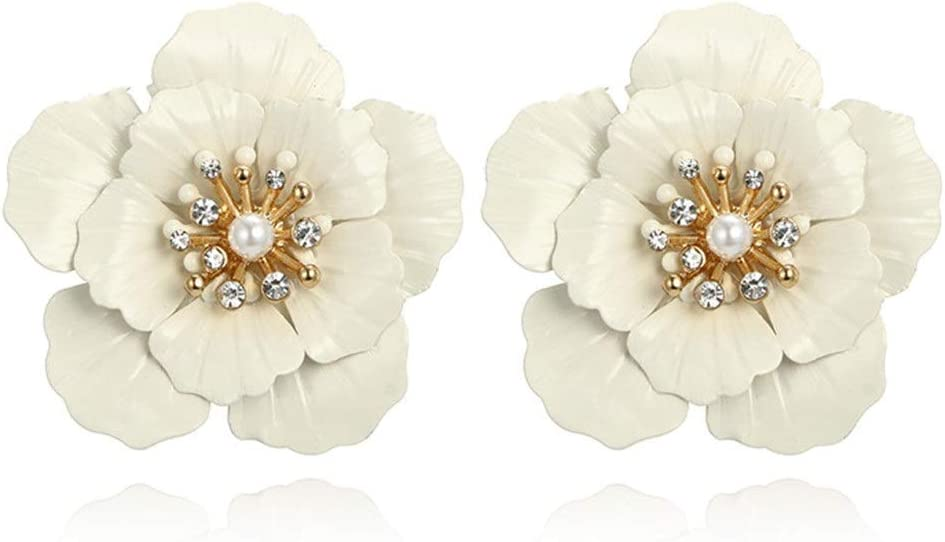 JYMBK Earrings Fresh Fashion Full Indianapolis Mall 2021 spring and summer new Flower All Pearl Shape Diamond