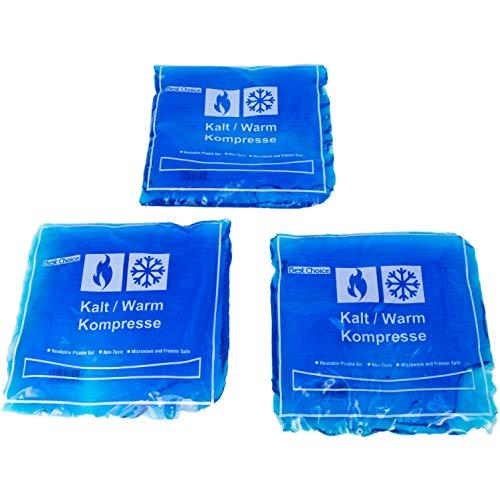 Compresa de gel frío y caliente, ideal para microondas y congelador.