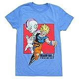 Dragon Ball Z Super Saiyan Goku and Frieza Adult T-Shirt - Heather Blue (Medium)