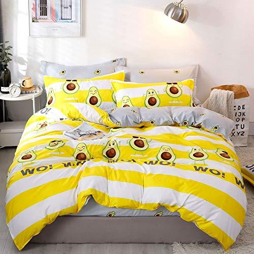 CYGJ CYGJThree-piece or four-piece set of soft and comfortable cotton beddingavocado2.0m four-piece set