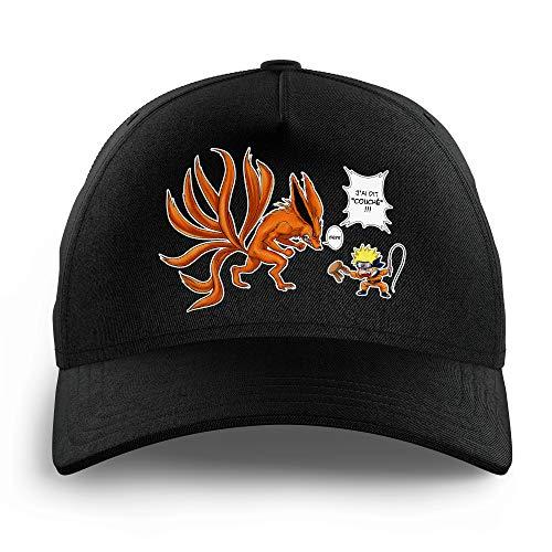 Cap für Kinder, Naruto, parodisch, Naruto und Kyubi Der Biju mit 9 Queues: liegend (Naruto)