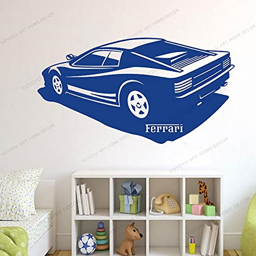 Pegatinas de pared Adhesivos Pared Etiqueta engomada del vinilo de la decoración del dormitorio del coche etiqueta del arte de la oficina etiqueta del garaje de la pared de los niños 77x143cm