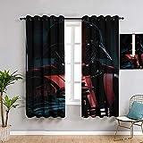 Sdustin Cortinas de salón de Star-Wars 213 x 213 cm, diseño de espada de luz, cortinas personalizadas, para sala de estar y dormitorio