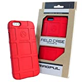 Case for iPhone 6s Plus/iPhone 6 Plus, with TJS [Tempered Glass Screen Protector] Magpul [Field] MAG485 Polymer Cover Retail Packaging Compatible Apple iPhone 6 Plus/6S Plus 5.5' (Red)