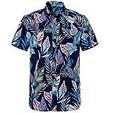 Jinyuan Hawaiana De Verano para Hombre De La Marca De Manga Corta con DiseñO Impreso Camisas Hombre Ropa Casual De Vacaciones