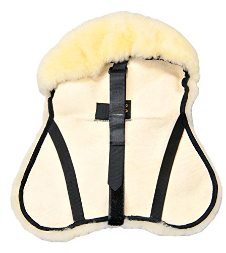 Merauno English Merino Sheepskin Saddle Seat Cover -Reitsport Lammfell Sattelsitzbezug englisch (L)