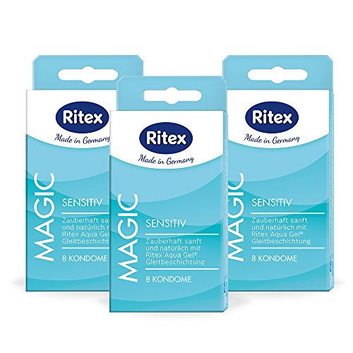 Ritex MAGIC Kondome, Mit wasserbasiertem Gleitmittel, 24 Stück, Made in Germany