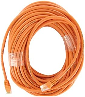 SF Cable, 100 FT CAT6 500MHZ UTP Patch Cord with Molded Boot, Orange