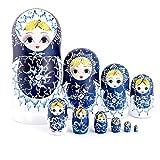 WINON Muñecas Rusas Matrioskas Matryoshka Viento Chino 10 Pedazos niña niña Familia jerarquía...
