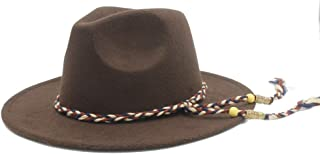 SHENTIANWEI Women Men Wool Fedora Hat Outdoor Travel Casual Jazz Hat Pop Wide Brim Fascinator Hat Wedding Hat Size 56-58CM