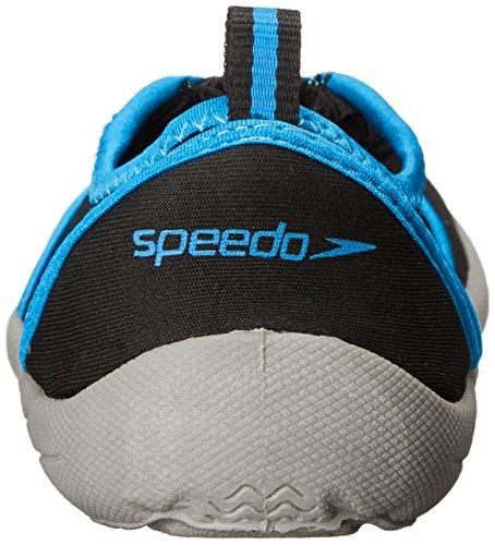 Speedo Women's Water Shoe Zipwalker 4.0 Athletic,Black/Turquoise,8 Womens US