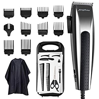 ACANI Corded Hair Clippers Professional Hair Cutting Kit 24 Pieces Accessories Hair Trimmer with 14 Guide Combs,3 Hair Combs,1 Scissor,1 Storage case,1 Barber Cape