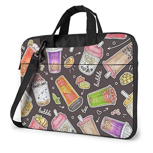 Bolsa para computadora portátil, Tableta, Bebidas Dulces Dibujadas a Mano, maletín para computadora portátil, Funda para computadora portátil para Negocios Informales o Escolares