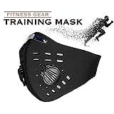 AlbinoSports 洗える 速乾 ボクササイズ アスリート トレーニングマスク 持久力 肺活量向上 フィットネスマスク 低酸素マスク 呼吸筋トレーニング ダイエットマスク (黒シルバー)