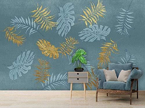 3D Wandtapete Tropische Pflanzenblatt Dekoration Wandmalerei 3D Wandfoto Wandwand 250X175cm