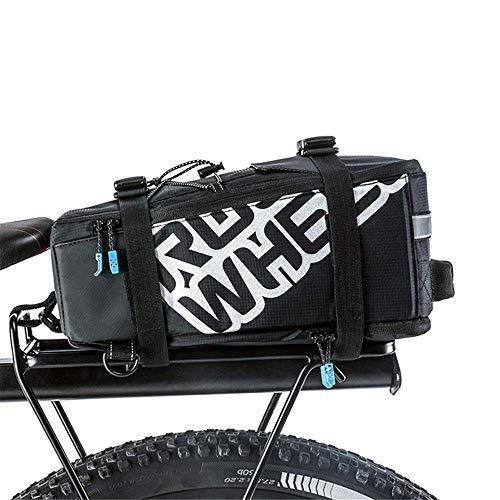 RTOFO Bicicleta Bolsa Trasera 5l Bicicleta de montaña Urbana Bicicleta de Carretera Deportes al Aire Libre Bolsa de Asiento Trasero Equipaje Reflectante Hombro Bolso