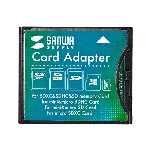 サンワサプライ SDXC用CF変換アダプタ ADR-SDCF2