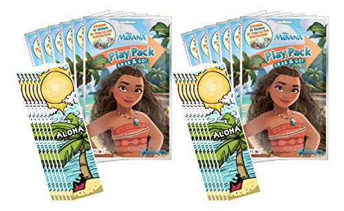 Disney Moana Grab and Go Play Packs (Pack of 12)