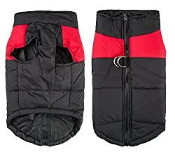 Your love for your cute dog: Shinmax dog coat jacket for small dogs, warm padded buffer, chest protection, winter, warm cable harness, vest jacket, easy on/off Coat dimensions: please measure your dog to ensure you choose the right size. The length o...