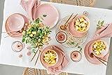 Sänger Tafelservice Nizza 12 teiliges Geschirr-Service für 4 Personen aus Steingut, Speise-, Dessertteller und Schalen, elegant, Alltag, Sommerparty, Grillabend, Frühstück, Outdoor Teller Set - 2