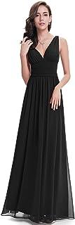 Ever-Pretty Sleeveless V-Neck Semi-Formal Maxi Evening Dress 09016